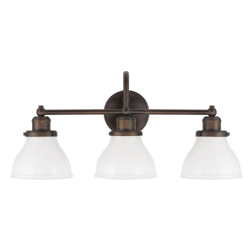 an image of Capital Lighting Baxter 3 Light Vanity in Burnished Bronze