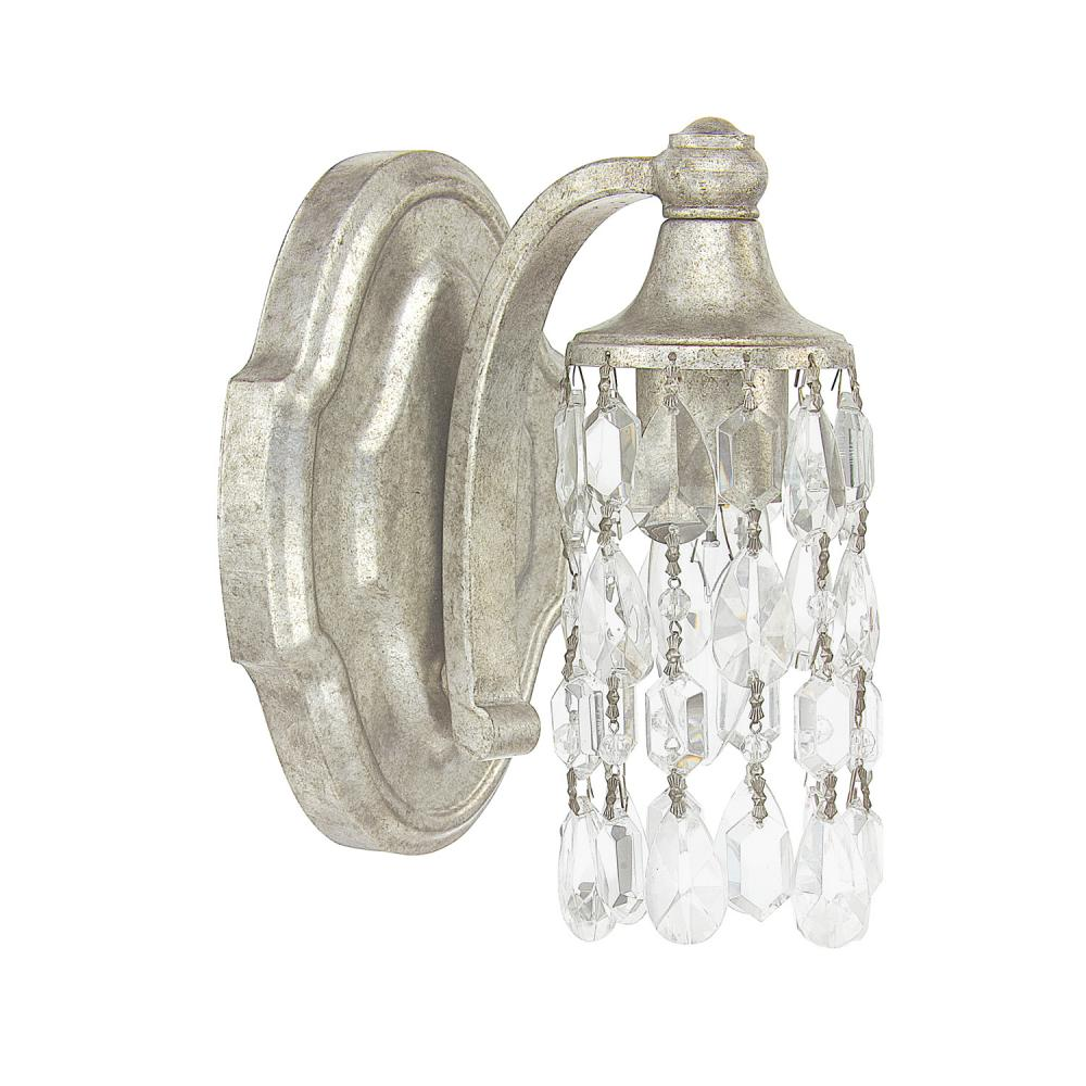 Capital Lighting 8521AS-CR - Blakely 1 Light Sconce, Antique Silver