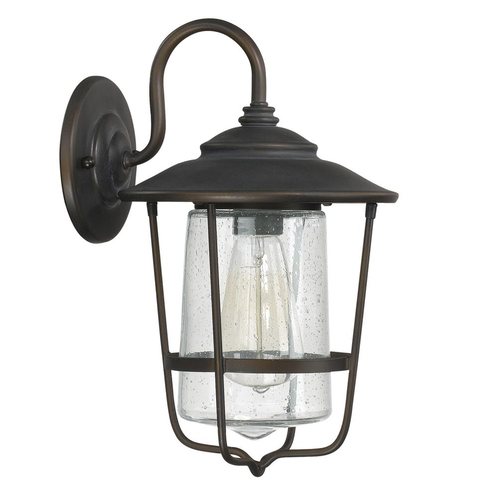 Capital Lighting 9601OB - Creekside 1 Light Outdoor Wall Lantern, Old Bronze