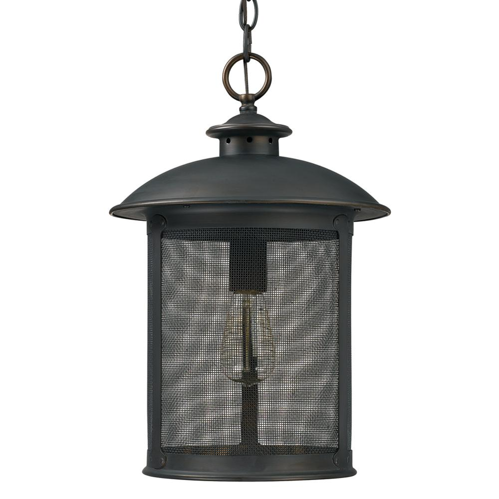 Capital Lighting 9614OB - Dylan 1 Light Outdoor Post Lantern, Old Bronze