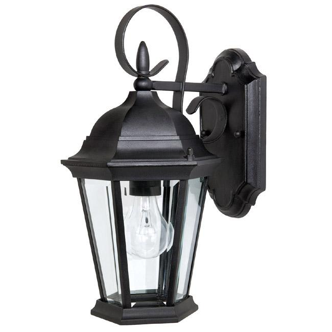 Capital Lighting 9726BK - Carriage House 1 Light Outdoor Wall Fixture, Black