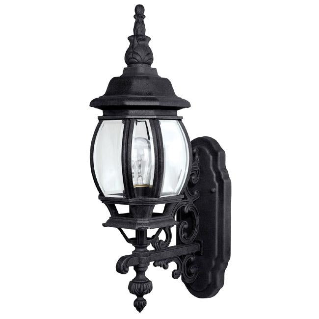 Capital Lighting 9867BK - French Country 1 Light Outdoor Wall Lantern, Black