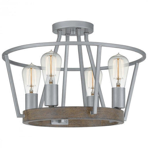Quoizel BRT1717BSR 4 Light Brockton Semi-Flush Mount