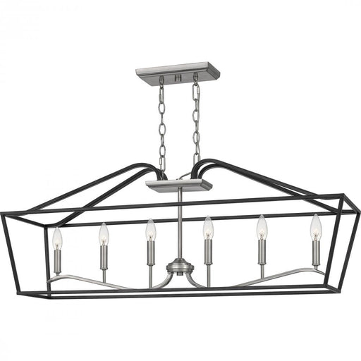 Quoizel CTA642MBK 6 Light Catalina Island Chandelier