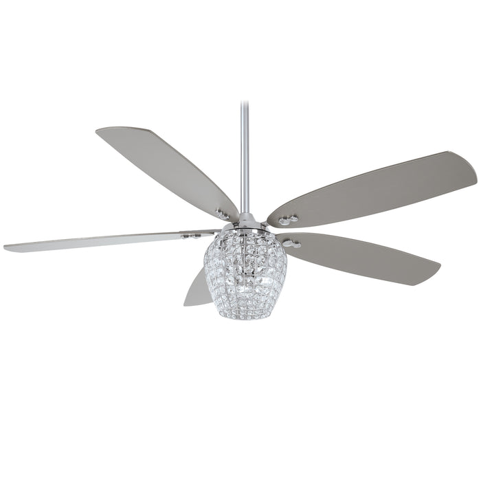 F902L-CH Ceiling Fan chrome with remote control and light kit