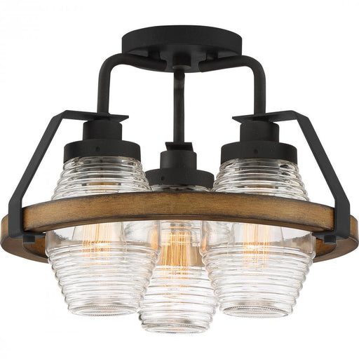 Quoizel GUI1715GK 3 Light Guilford Semi-Flush Mount