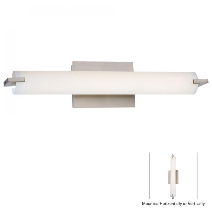 Tube 20W LED Wall Sconce, 20.5 Inches Wide, Mount Vertically or Horizontally