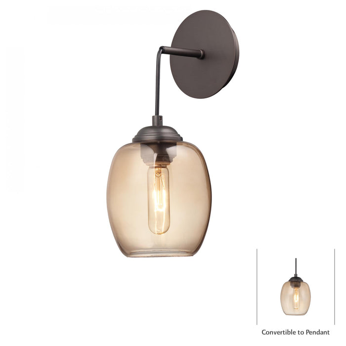 Bubble 1 Light Mini Pendant (Convertible To Wall Sconce)