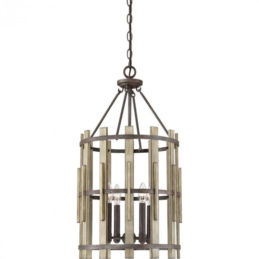 Quoizel WHL5204RK 4 Light Wood Hollow Pendant