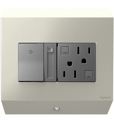 Adorne Control Box with Paddle Dimmer and 15A GFCI