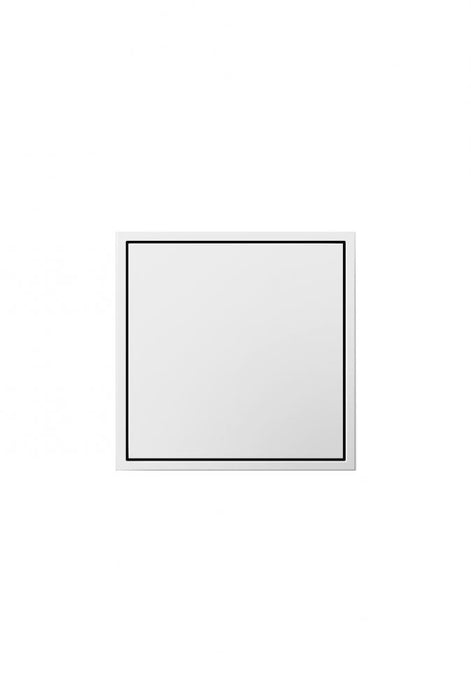 adorne pop-out outlet in white finish