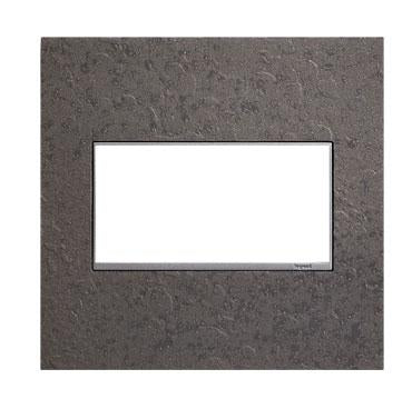 Adorne Hubbardton Forge Line 2-Gang Wall Plate, Natural Iron