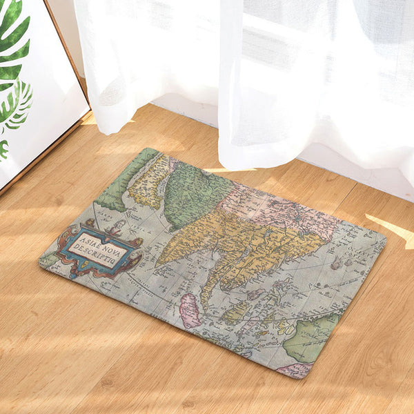 Homing Durable Dustproof Welcome Home Door Mats World Maps Stairs Kitchen Rugs Entrance Mat Light Thin Flannel Bedroom Mats
