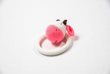 "Crocheted Baby Rattle ""Cow"""