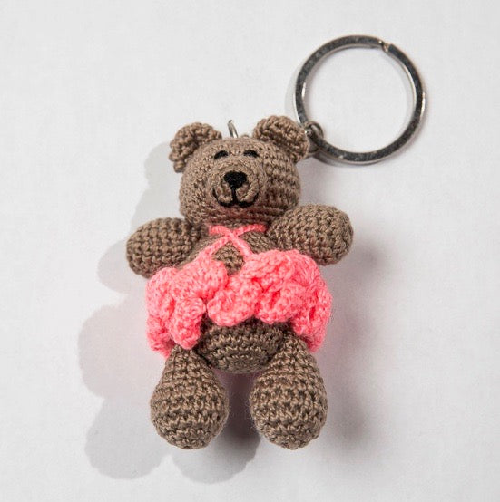 Girl Bear Ballerina Key Tag