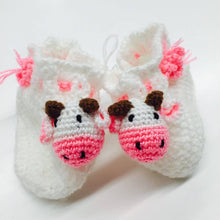 "Crocheted Baby Booties ""Cow"""