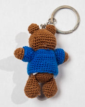 "Key Tag ""Boy Bear with Flag Sweater"""