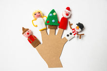 Christmas Crocheted Finger Puppet Set