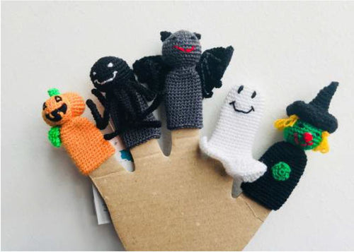 Crocheted Finger Puppet Set