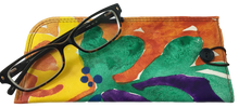 "Leather Eyeglass Case ""Tropicana"""