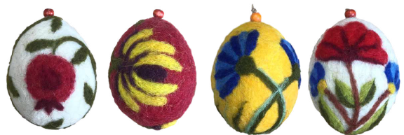 Wool Felt Oval-Shaped Ornament Set