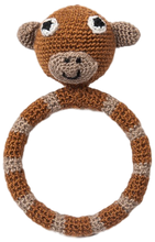 "Crocheted Ring Rattles ""Animal Theme"""
