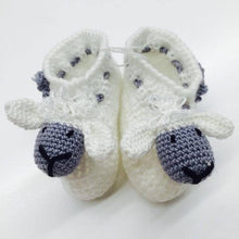 "Crocheted Baby Booties ""Sheep"""