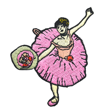 Dancer with a Bouquet of Flowers - Patch