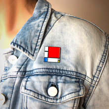 Composition II in Red, Blue, and Yellow - Pin