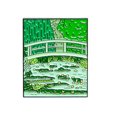 Water Lilies and Japanese Bridge - Pin