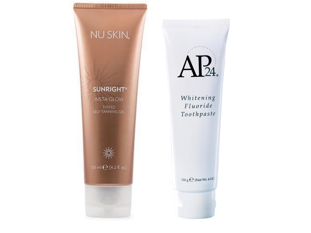 Insta Glow Sunless Tanner & Whitening Toothpaste