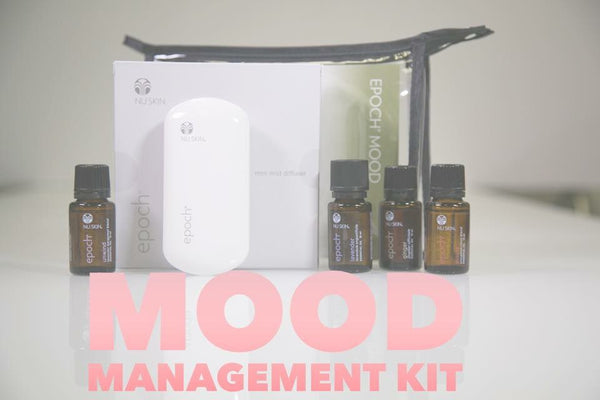 Mood Management Package - Includes mini mist diffuser plus 4 healing an relaxing essential oils - lavender, ginger, unwind and assure.  Value $199!