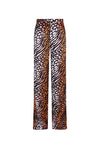 CORAL LEOPARD Wide Leg Flares