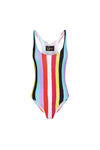 New Stripes Printed Swimsuit