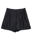 Polka Dots Silk Satin Printed Shorts