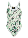 Mint Coral Printed Swimsuit