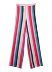 Extra Stripes Silk Satin Printed Beach Flares