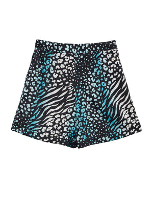 BLUE LEOPARD Tailored Shorts