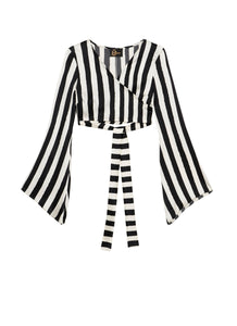 BW STRIPES Wrap Top