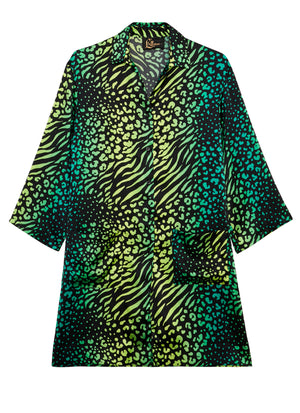 Palm Leopard Pyjama Shirt