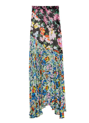 FLOWER SCENT Bias Cut Long Skirt
