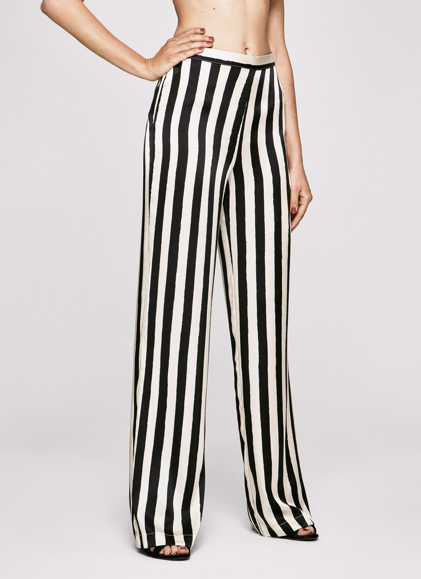 Black & White Stripes Wide Leg Flares