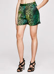 Palm Leopard Tailored Shorts