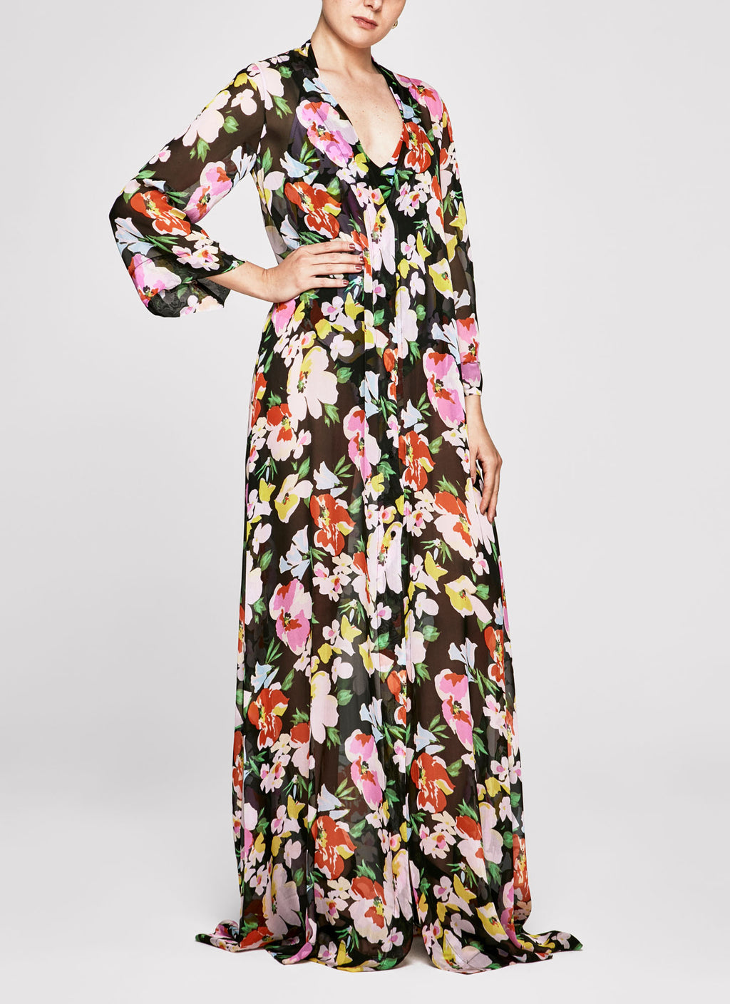 Flower Bomb Flared Sleeve Kaftan