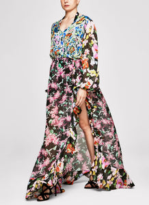 Flower Scent Ruffle Gown