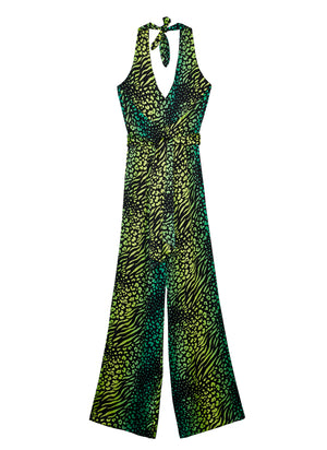 PALM LEOPARD Jumpsuit