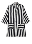 Black & White Stripes Pyjama Shirt