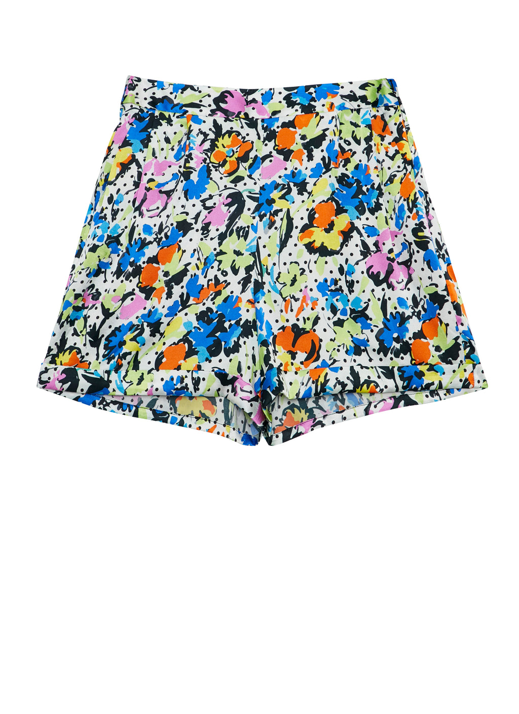 Polka Flower Tailored Shorts