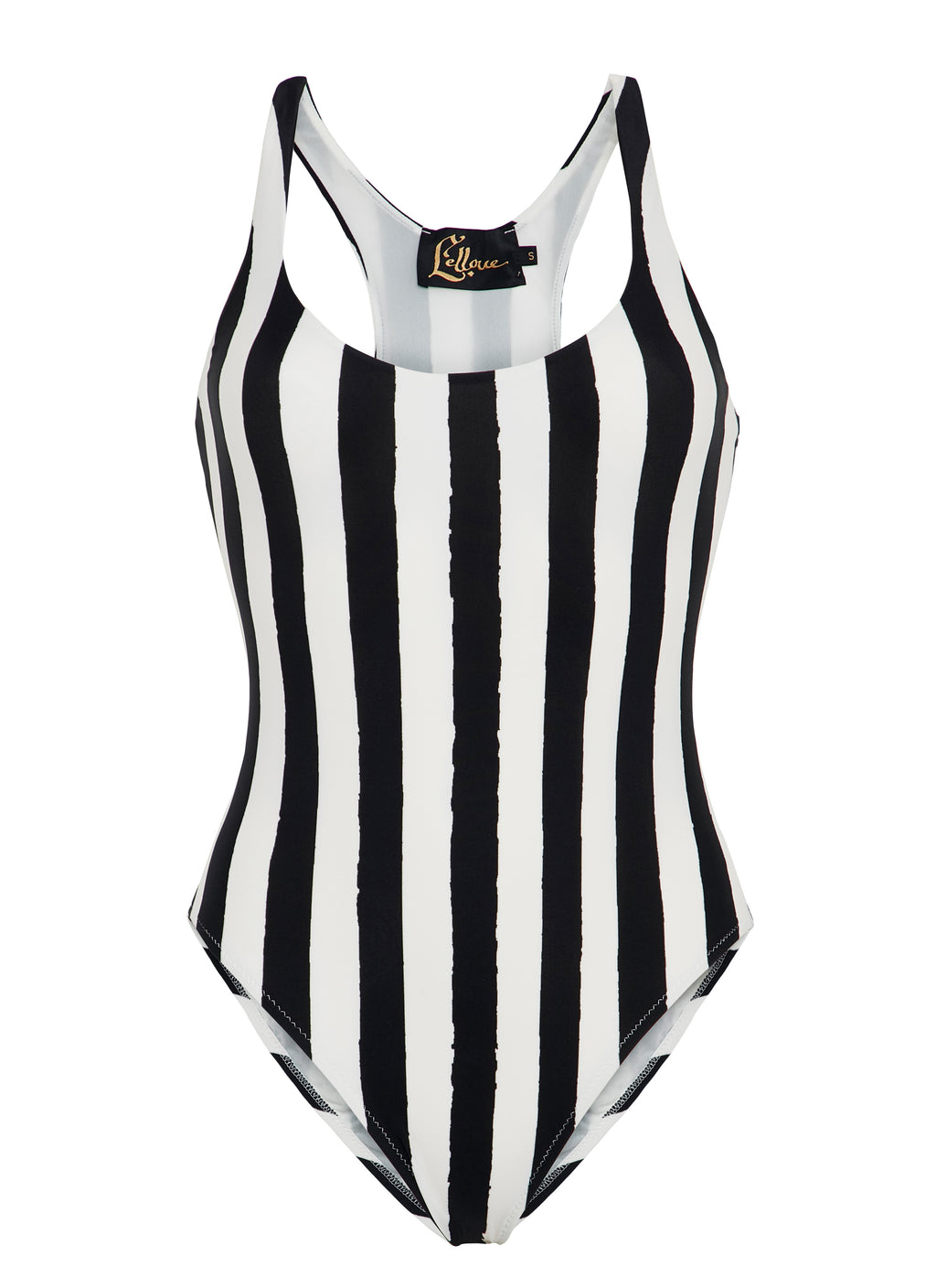 Black & White Stripes Olympic One Piece