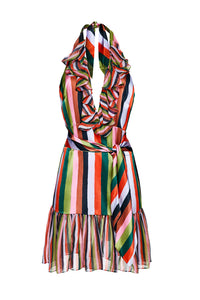 Candy Stripe Halter Dress